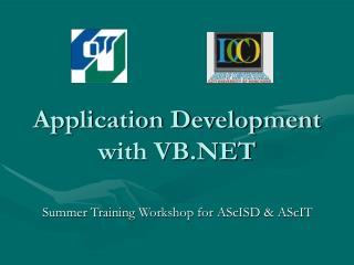 Application Development with VB.NET