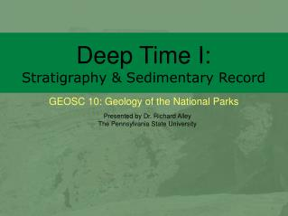 Deep Time I: Stratigraphy & Sedimentary Record
