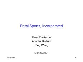 RetailSports, Incorporated