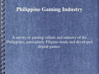 Philippine Gaming Industry