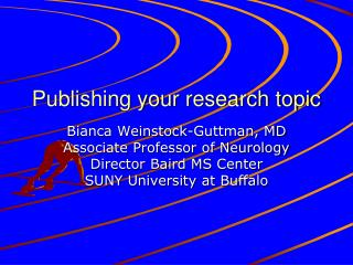 Publishing your research topic