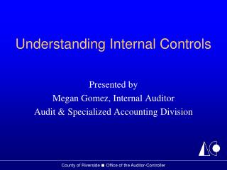 Understanding Internal Controls