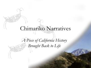 Chimariko Narratives
