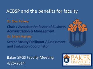 ACBSP and the benefits for faculty