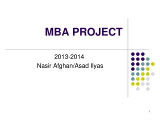 MBA PROJECT