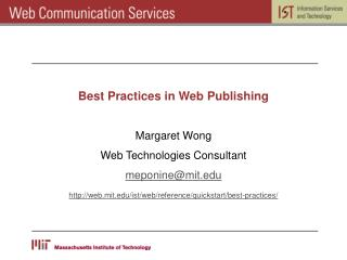 Best Practices in Web Publishing