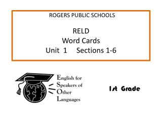 RELD     Word  Cards Unit  1     Sections 1-6