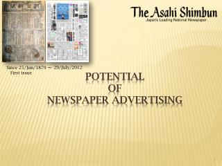 potential of Newspaper advertising