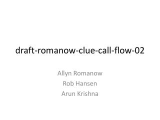 draft-romanow-clue-call-flow-02