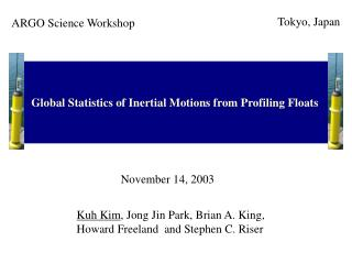Global Statistics of Inertial Motions from Profiling Floats