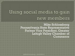 Using social media to gain new members