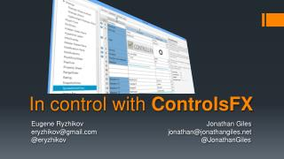 In control with  ControlsFX