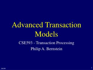 Advanced Transaction Models