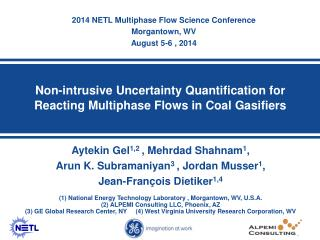 Non-intrusive Uncertainty Quantification for Reacting Multiphase Flows in Coal  Gasifiers
