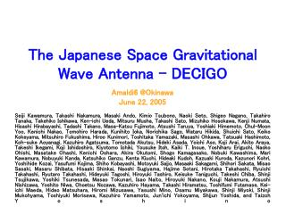 The Japanese Space Gravitational Wave Antenna - DECIGO