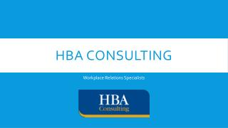 HBA Consulting - Workplace Relations Specialist