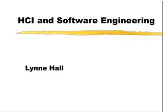 HCI and Software Engineering