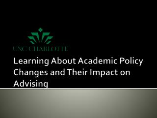 Learning About Academic Policy Changes and Their Impact on Advising
