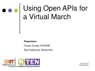 Using Open APIs for a Virtual March