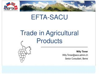 EFTA-SACU Trade in Agricultural Products