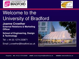 Welcome to the University of Bradford