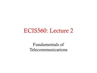 ECIS560: Lecture 2