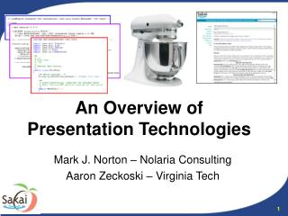 An Overview of Presentation Technologies