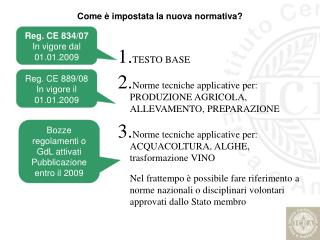 TESTO BASE  Norme tecniche applicative per: PRODUZIONE AGRICOLA, ALLEVAMENTO, PREPARAZIONE   Norme tecniche applicative