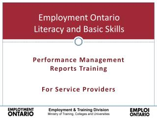 Employment Ontario Literacy and Basic Skills