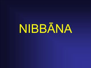 NIBBĀNA