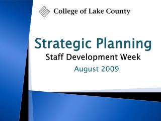 Strategic Planning Staff Development Week