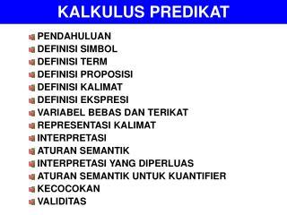 KALKULUS PREDIKAT