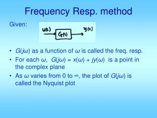 Frequency Resp. method