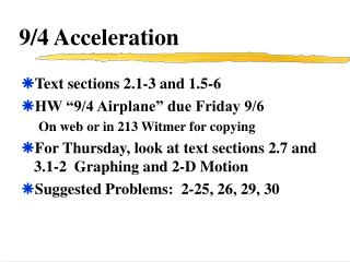 9/4 Acceleration