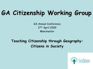 GA Citizenship Working Group