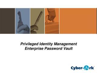 Privileged Identity Management Enterprise Password Vault