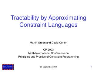 Tractability by Approximating Constraint Languages