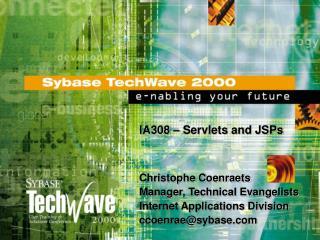 IA308 – Servlets and JSPs