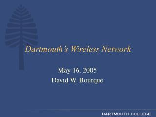 Dartmouth's Wireless Network