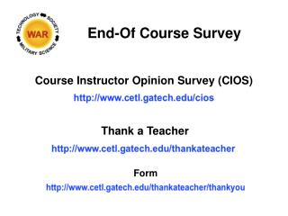 End-Of Course Survey