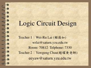 Logic Circuit Design