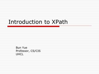 Introduction to XPath