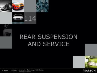 REAR SUSPENSION AND SERVICE