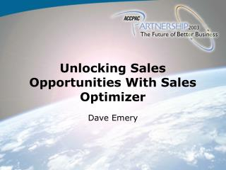 Unlocking Sales Opportunities With Sales Optimizer