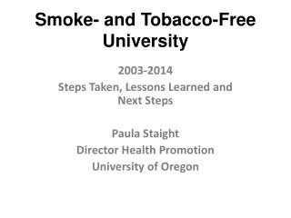 Smoke- and Tobacco-Free University