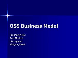 OSS Business Model