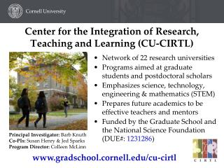 Center for the Integration of Research,  Teaching and Learning (CU-CIRTL)