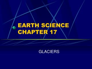 EARTH SCIENCE CHAPTER 17