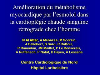 Protection Myocardique
