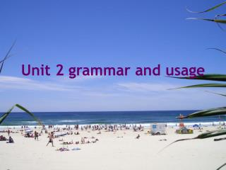 Unit 2 grammar and usage